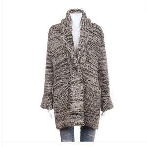 Zara knit chunky cardigan sweater Small Black